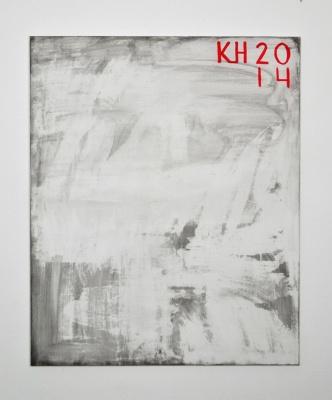 Ink wash No.4 2015 acrylic on linen 140x120cm