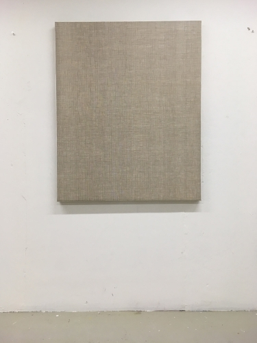 Linen #10 2018 gesso and acrylic on linen 110 × 90 cm