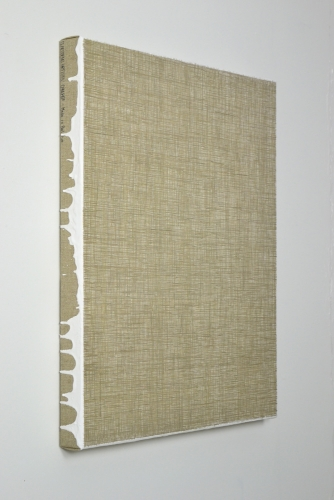 Linen#9 2018 gesso and acrylic on linen 60 x 50 cm
