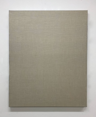 Linen No.12  2018  gesso and acrylic on linen 110 × 90cm