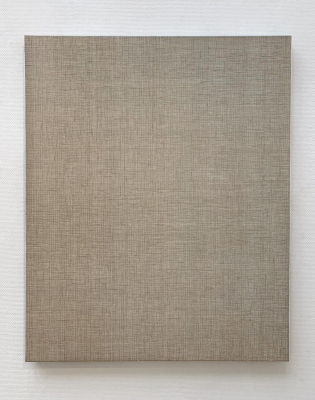 Linen No.10  2018  gesso and acrylic on linen 110 × 90cm