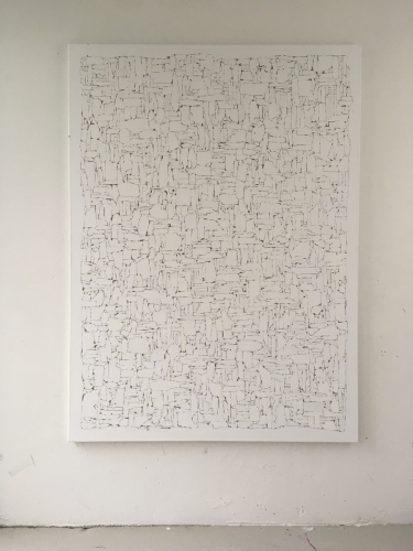 Repositioned Gesso #1 2019 gesso on linnen 150x110cm